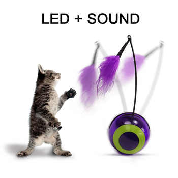 Cat Toy Cat Puzzle Pet Fun Electric Automatic Rotating Play Interactive IQ Training Toys Plush For Kitty Cat Scratching Toy