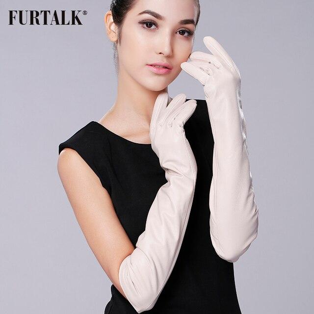 Super Long 50cm 60cm Women's Supple Nappa Leather Opera Dressing Gloves