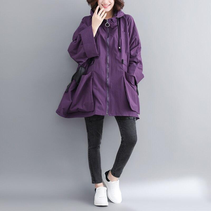 Jacket Big-Size Coat Hooded Vestido Female's New-Fashion Full RE2445 Bawting-Type