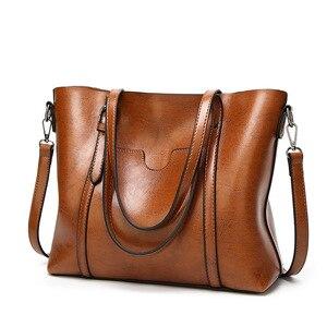 Image 1 - Bolso de lujo de piel suave para mujer, bandolera para mujer, grande, inclinado