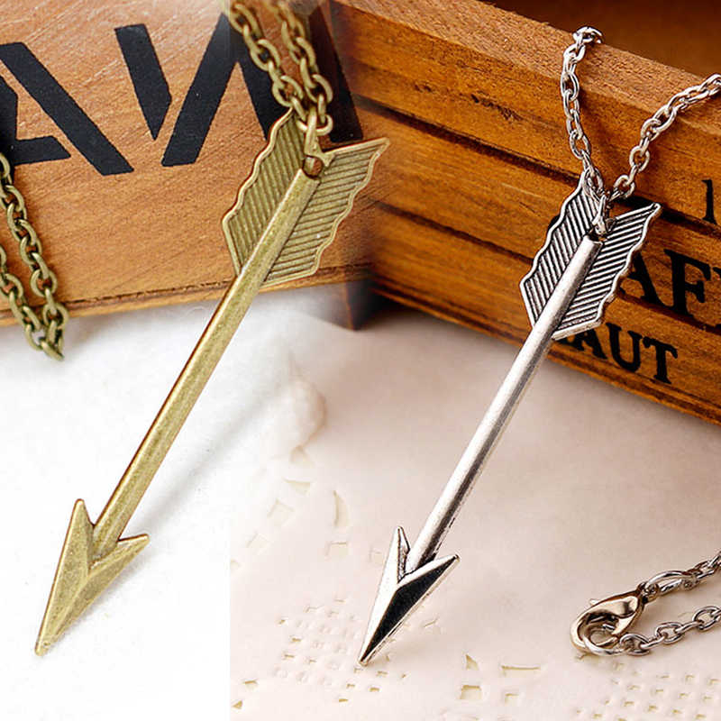 Sale 1PC Fashion Necklace for Women Long Chain Arrow Head Pendant Jewelry Gift Sweater Necklace Simple