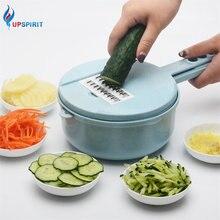 Upspirit Potato Slicer Vegetable Cutter 9 In 1 Mandoline Carrot Cucumber Grater Strainer Kitchen Accessories