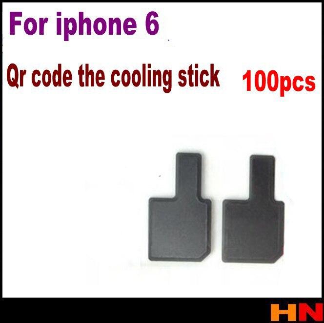 bilder für 100 teile/los antistatische wärmeableitung film aufkleber für iphone 6 lcd screen qr code teil