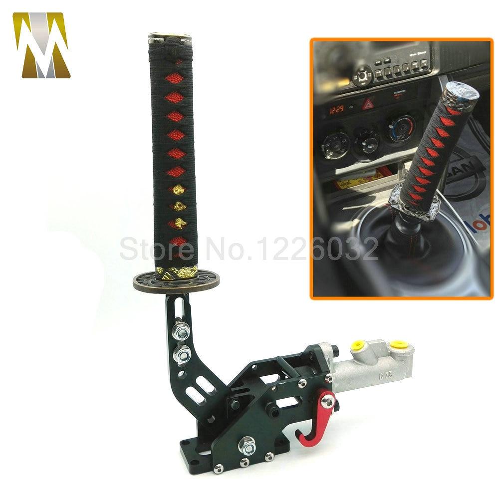 1 комплект 215мм Новый комплектации Дрейфующих гидравлический ручной тормоз самурайский меч ручка красный +черный