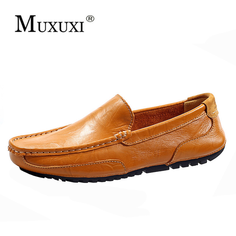 Top brand High quality genuine leather casual men shoes cow suede comfortable loafers soft breathable shoes men flats warm