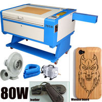 UK Shipping! 80W USB CO2 Laser Cutter Engraver Laser Cutting Engraving Machine High Precision