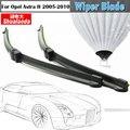 1 Pair Frameless Wiper Blades Para 2005-2010 Opel Astra H Carro Veículo Janela Brisas Da Lâmina Do Limpador de Borracha Macia