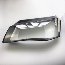 цена на For Audi A8 front headlamp lampshade old Audi A8 car headlight shell A8 low matching high front headlight transparent lampshade