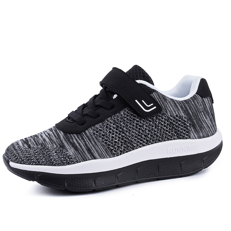 Women Platform Sneakers Slimming Swing Shoes Girls Outdoor Fitness Shoes Wedges Toning Shoes Breathable Plus Size 35-44