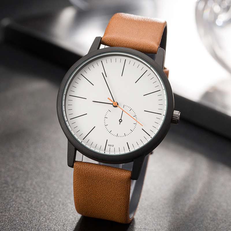 Ladies Creative simple Watches unisex Fashion leather Casual watch Men Women Quartz Wristwatch Leather female Clock Hours