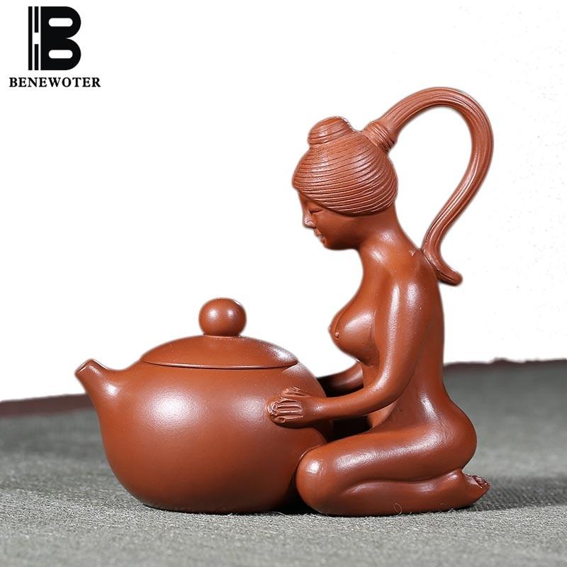 110cc Authentic Yixing Purple Clay Beauty Xishi Teapot Famous All Handmade Art Zisha Pot for Tea Ceremony Crafts Tea Pet Gifts
