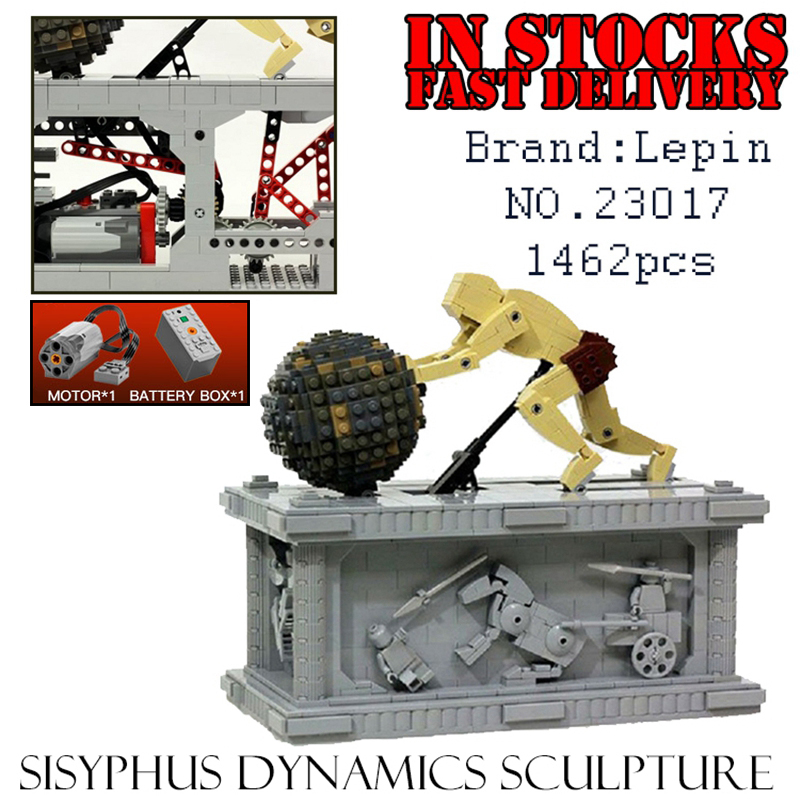 LEPIN Techinc 23017 1462pcs Sisyphus Dynamics Sculpture Building Kits Blocks Bricks enlighten toys for children gifts brinquedos dna solution structure dynamics