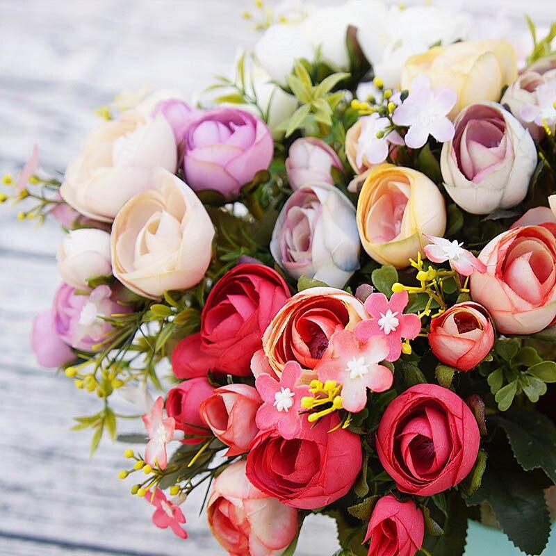 10 Heads Artificial Plastic Flowers Floristics New Year Christmas