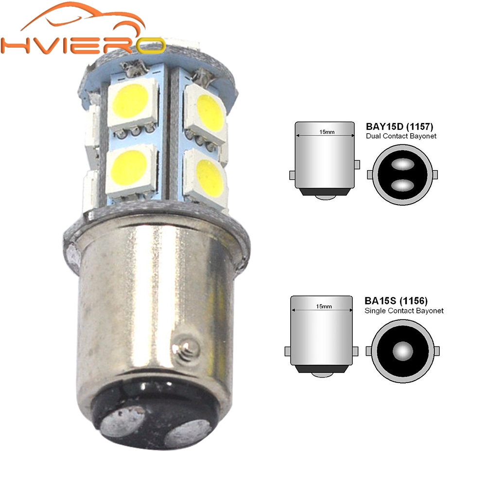 1156 BA15S 1157 BAY15D P21W BA15D 13Led 5050 Car Led Turn Parking Signal Lights Brake Tail Lamps Auto Rear Reverse Bulbs DC 12V new 1156 1157 ba15s 13 led 5050 smd car styling auto tail turn signal light bulb 12v 13smd rear brake car lights source parking