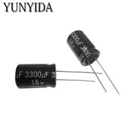 Алюминиевый электролитический конденсатор, 10 шт., 6,3 в, 10 в, 16 В, 25 в, 35 В, 50 в, 4700 мкФ, 3300 мкФ, 2200 мкФ, 1500 мкФ, 1000 мкФ, 680 мкФ
