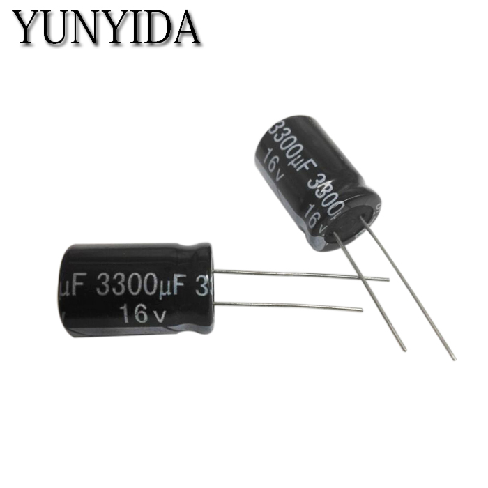 10PCS  6.3v 10V 16V 25V 35V 50V  4700UF 3300uf 2200UF 1500UF 1000UF 680UF  Aluminum Electrolytic Capacitor