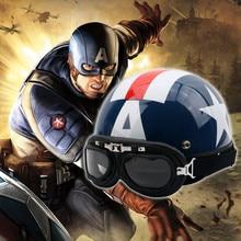 Motorcycle-Helmet Captain-America Bicycle Electric Cartoon ABS Four-Seasons Winter Summer