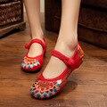 Primavera Verão Sapatos Casuais Mulher Mary Janes Flats Bordados Das Mulheres do Estilo Chinês Sapatos de Dança Plus Size 41 Zapatos Mujer WSH2292