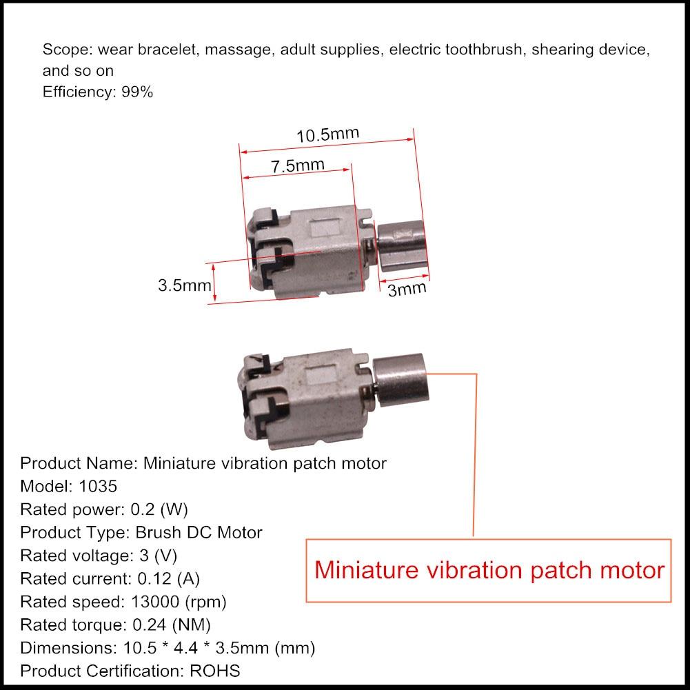 2 Pcs Smart Bracelet Chip Motor Micro-vibration Patch Motor Mobile Phone Vibration Motor Beauty Instrument Motor
