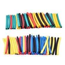 328 pçs/lote conjunto polyolefin encolhendo sortido tubo de psiquiatra calor fio cabo isolado sleeving tubo conjunto 2:1