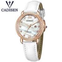 Promo Reloj Geneva de marca de lujo de 2017, Reloj de cuarzo para Mujer, Reloj de pulsera de diamantes de imitación de cuero genuino para Mujer, regalo para Mujer