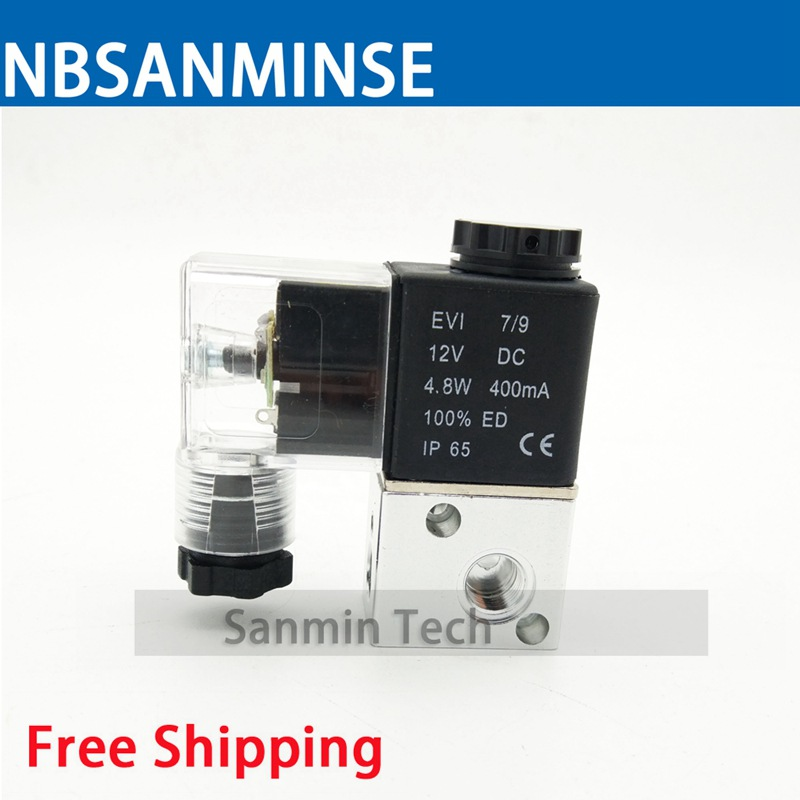 все цены на Air 3 Way 2 Position M5 G 1/8 AirTAC Type Solenoid Valve 3V 1 - M5 / 06 Normally Closed Pneumatic Control Valve Sanmin онлайн