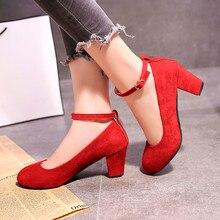 ¡OFERTA de otoño 2019! zapatos de tacón alto estilo Vintage estilo Punk de talla grande en color negro y rojo Dec18 para mujer