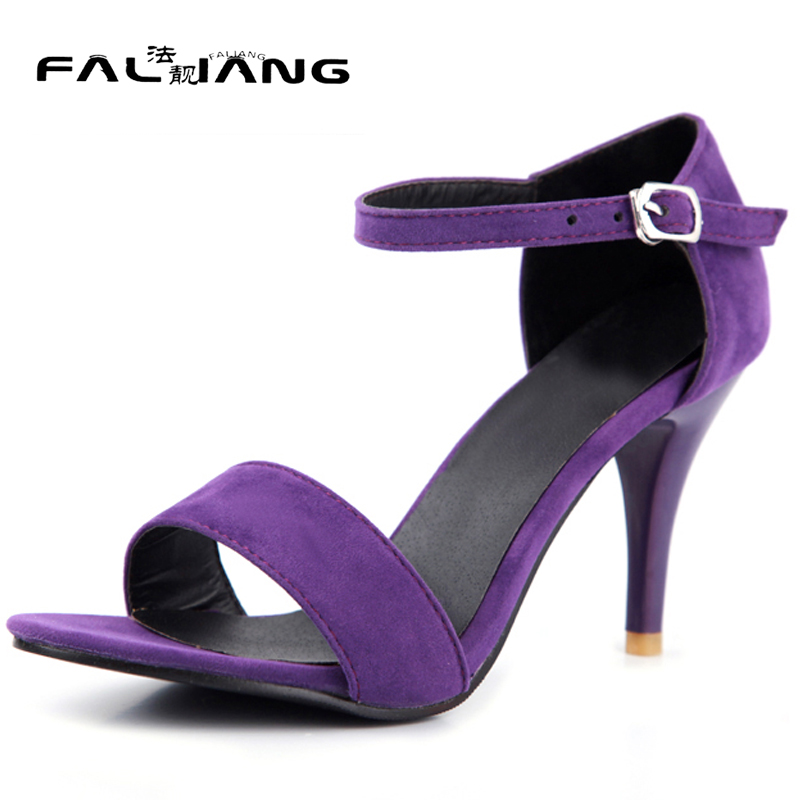 New arrival Summer plus size 11 12 13 14 15 16 Fashion Flock womens Shallow shoes Spike Heels Summer Super High heel sandals new 2017 spring summer women shoes pointed toe high quality brand fashion womens flats ladies plus size 41 sweet flock t179