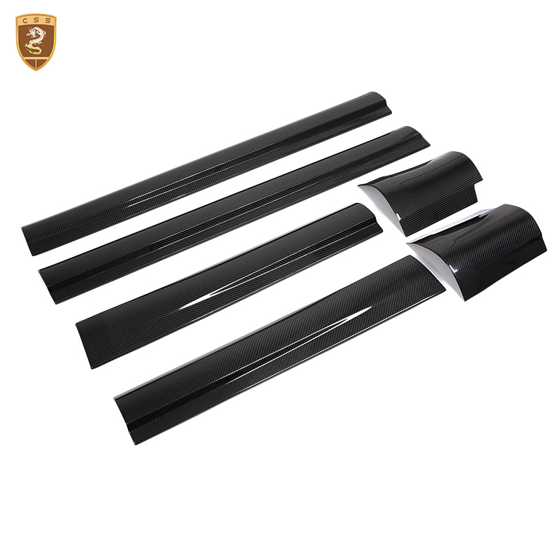 Full Carbon Fiber Exterior Door Panels Trim For Levante Auto Accessories Decoration For  ...