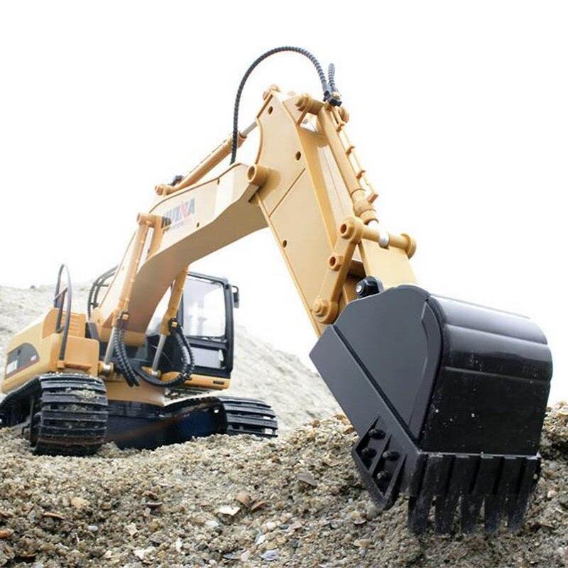 2019 nouveaux jouets 15 canaux 2.4G 1/14 RC pelle charge voiture RC avec batterie RC alliage pelle RTR pour les enfants - 5