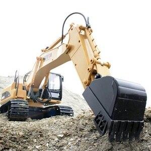 Image 5 - Excavadora teledirigida de 15 canales para niños, excavadora de aleación con batería, 2020G, 2,4, 1/14
