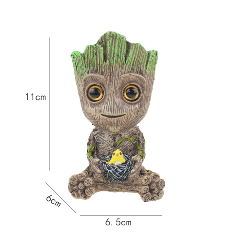 Cute Tree Man Figurine Garden Aquarium Decoration Root Air Bubble Driftwood Statue Fish Tank Background Ornament Rock Shelter