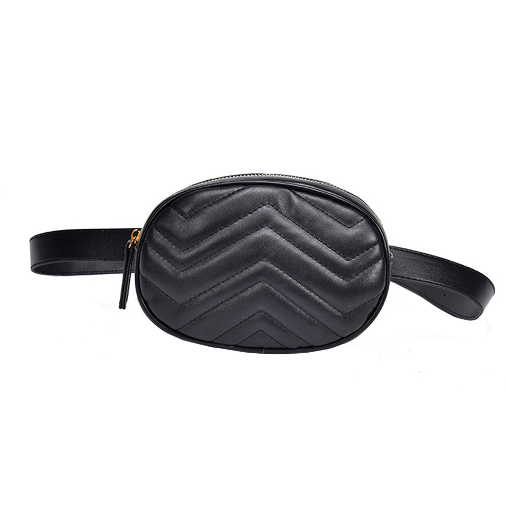 2019 New Women Waist Bag Packs Leather Belt Chest Bag Ladies Chest Waist Bags Phone Evening Party Cltuch Bags Hip Packs #YL
