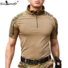 Men Summer Hiking T-Shirt 2018 Tactical Short Sleeve Military Camouflage Cotton Shirts Hunting Clothes Airsoft T Shirt Tshirt