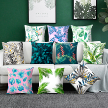 Plant Decoration Cushion Cover polyester sofa cushion cover Leaves geometry home decoration pillow case chair