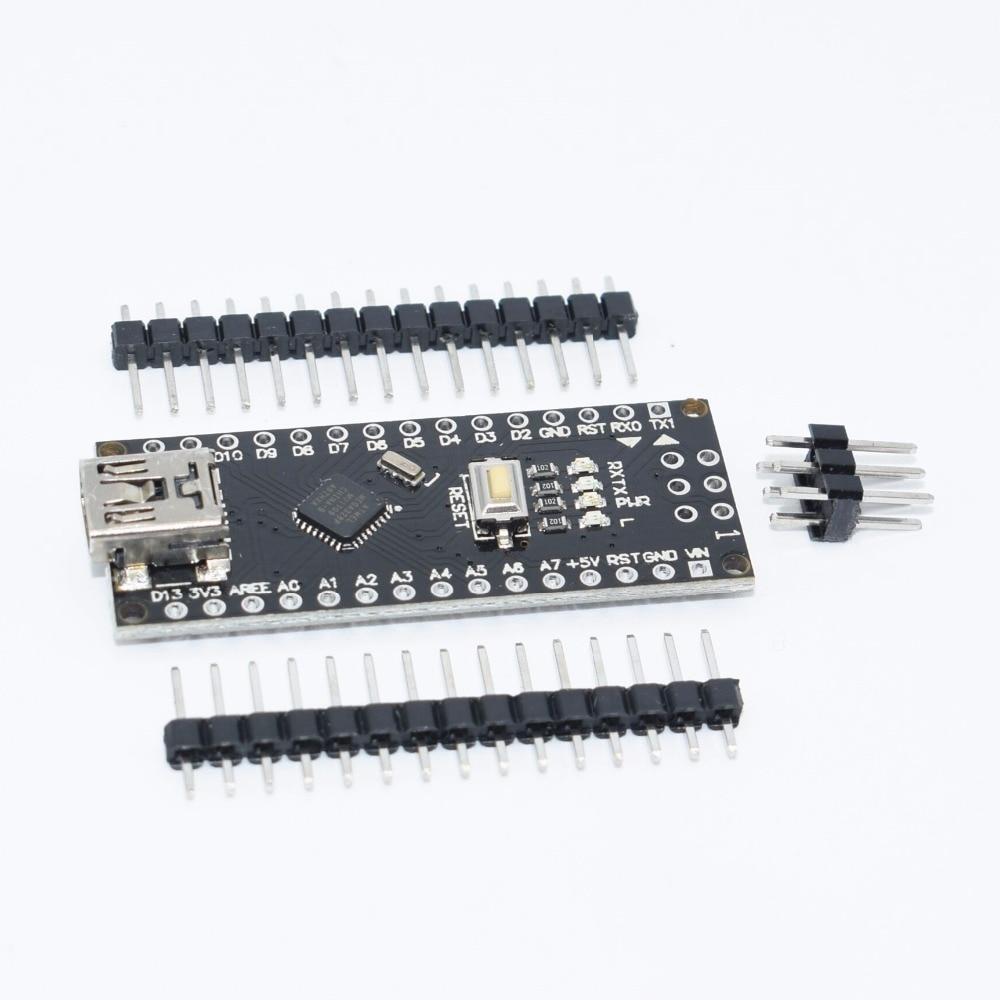 10pcs/lot Black NANO V3 Mini USB With the bootloader Nano V3.0 controller compatible for CH340 USB driver 16Mhz(hei) for Arduino