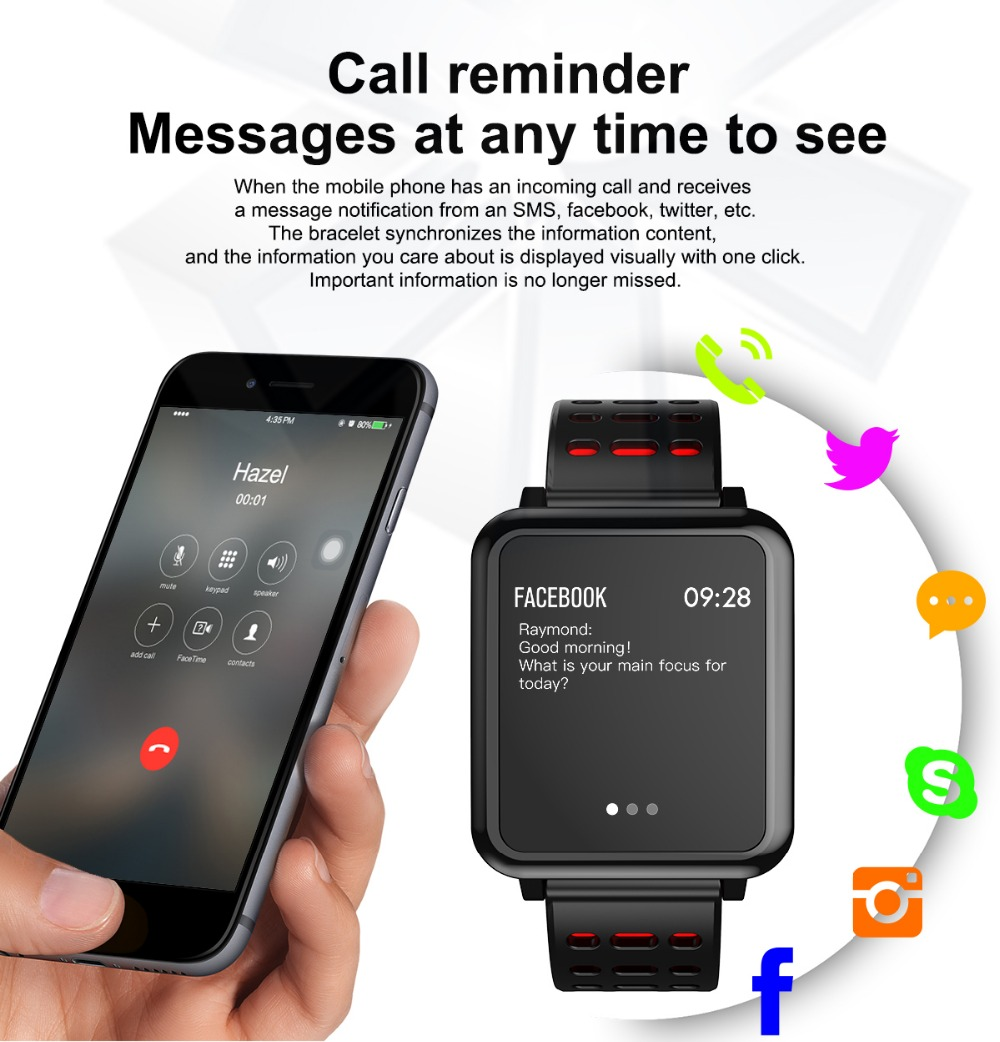 T2 Smartwatch IP67 Waterproof Wearable Device Bluetooth Pedometer Heart Rate Monitor Color Display Smart Watch For AndroidIOS (11)