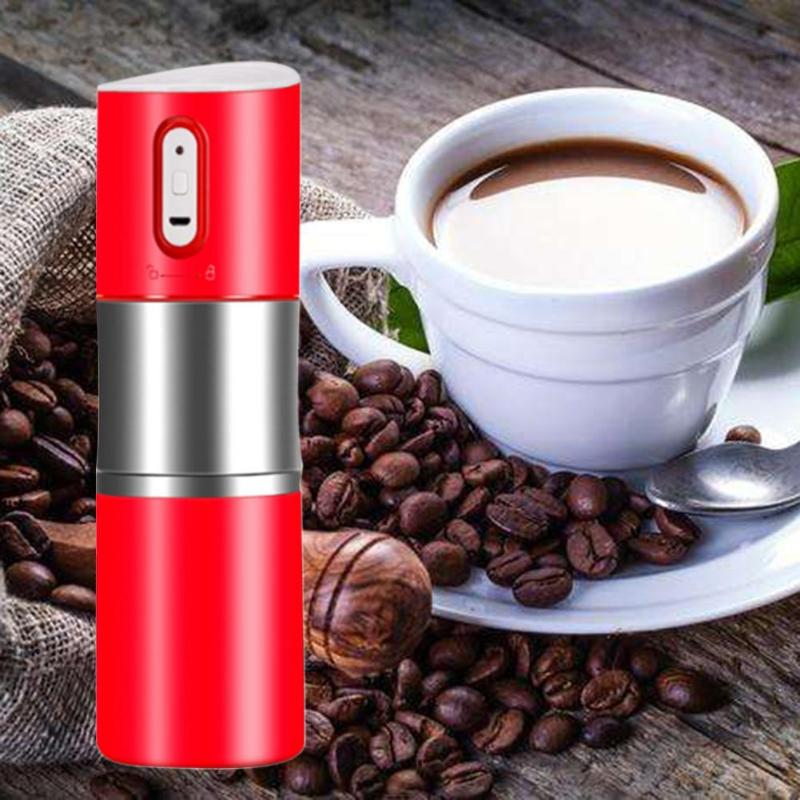 Portable Fully Automatic USB Rechargeable Mini Capsule Coffee Makers Grinding Machine Car Electric Coffee Bean Pot Grinding Cup household fully automatic coffee maker cup portable mini burr coffee makers cup usb rechargeable capsule coffee machine