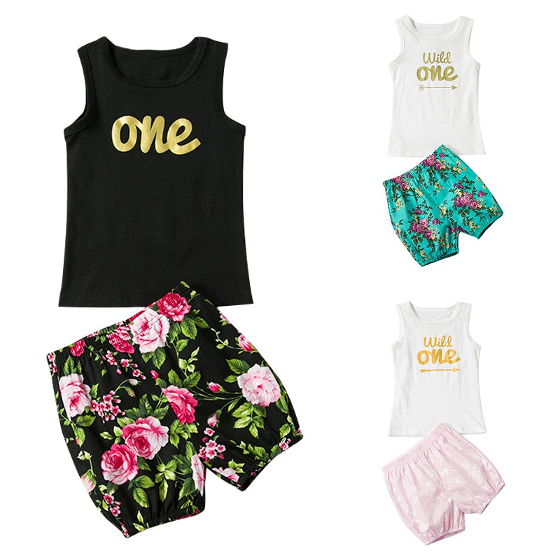 2018 Baby Girl boy Clothing Sets Bebe Summer Infant Vest Tops Pants Set Summer Kid Outfit Toddler Cotton Tracksuit Clothes