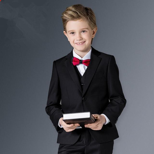 2017 Garçons Costumes Formels pour Les Mariages Marque Angleterre Style  Homme Enfant Noir Partie Smokings Garçons