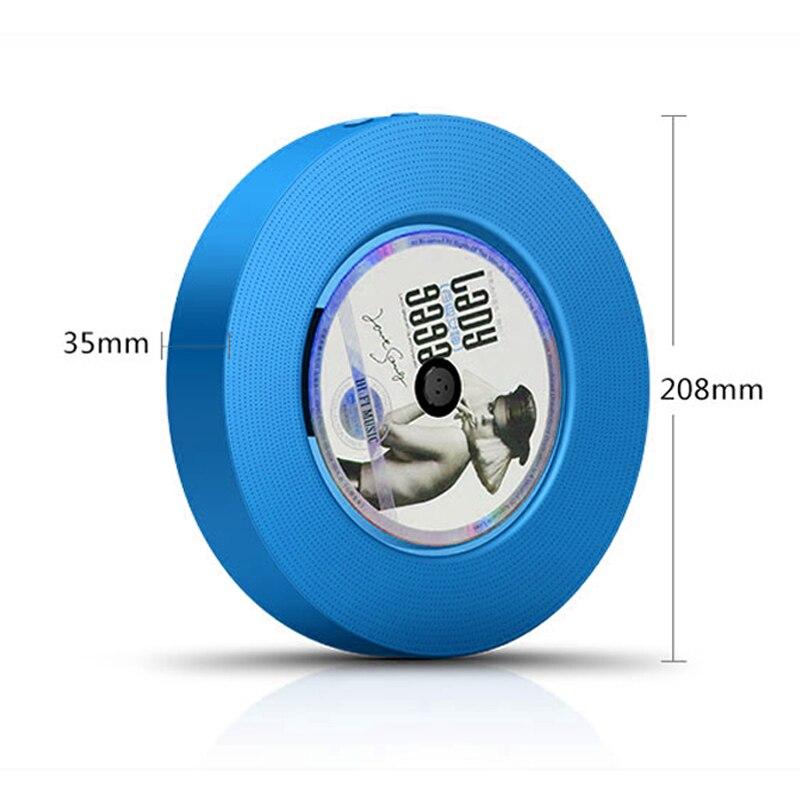 Настенный Bluetooth CD плеер портативный динамик выдвижной переключатель с дистанционным динамиком fm радио USB привод CD DVD VCD WMA AVI плеер - 3