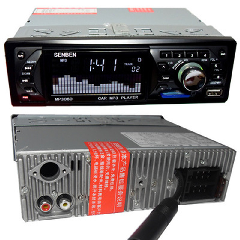 24V Bluetooth 1-Din Car Stereo Audio In-Dash MP3 Radio Player Support USB/TF/AUX/FM Receiver MP3 MMC WMA Car Radio