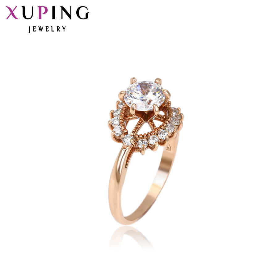Xuping Fashion Ring New Top Sale Unique Colorful Gold Color Plated Synthetic CZ Wedding  ...