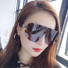 Vazrobe Oversized Women's Sunglasses Men Polarized Sun Glasses for female steampunk hip hop star fashion windproof one piece