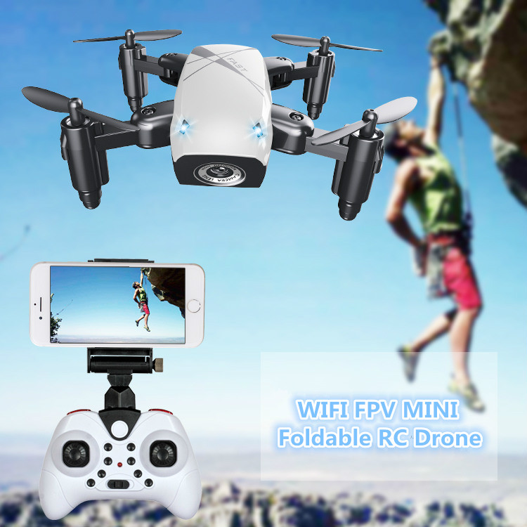 2018 Hot Foldable Transformable RC Mini Drone 2.4g attitude hold WIFI FPV Pocket Drone With HD Camera Altitude Hold Toys VS H47
