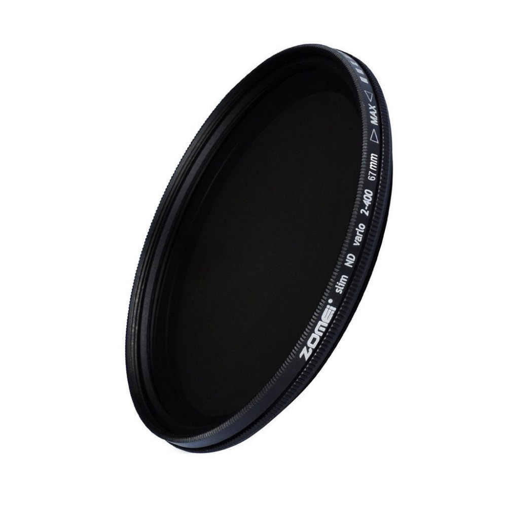 ZOMEI Glass Slim ND2-400 Neutral Density Fader ND กรอง 49/52/55/58/62 /67/72/77/82 มม.