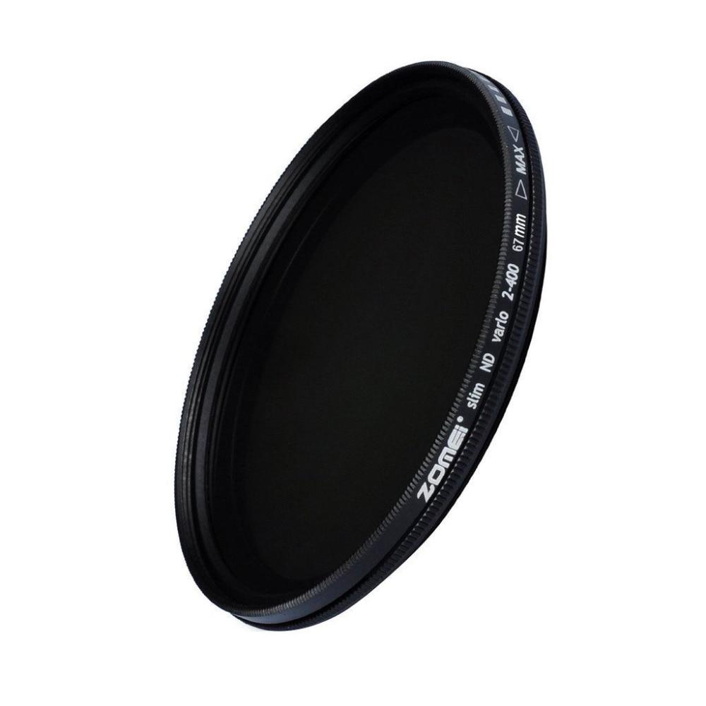 ZOMEI Glas Schlanke ND2-400 Neutral Density Fader Variable ND-filter Einstellbar 49/52/55/58/62/67/72/77/82mm