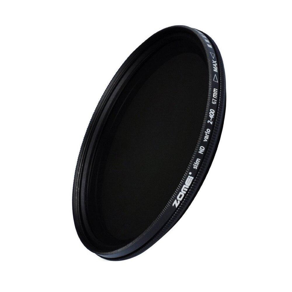 ZOMEI Verre Mince ND2-400 Densité Neutre Fader Variable ND filtre Réglable 49/52/55/58/62/67/72/77/82mm