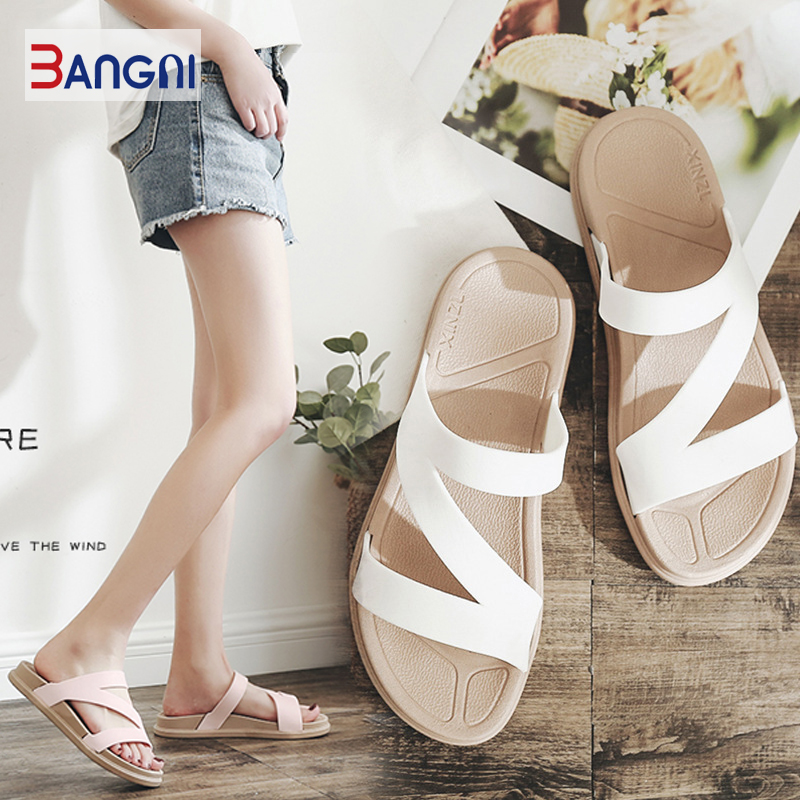 3ANGNI Women Sandals Slipper Indoor Outdoor Flip-flops Beach Shoes New Fashion Female Casual Soft Slipper