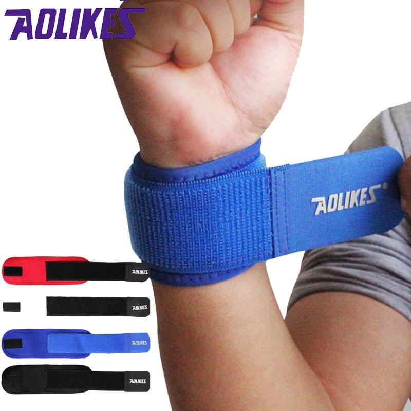 AOLIKES 1PCS nastavitelná podpěra na zápěstí Brace Značka potrubí Muži a ženy Gym Wrestle Profesionální sportovní ochrana zápěstí